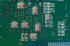 Close up da placa de circuito Imagens de Stock