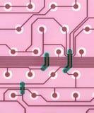 Close up da placa de circuito do computador Foto de Stock Royalty Free