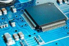 Close-up da placa de circuito eletrônico Fotos de Stock Royalty Free