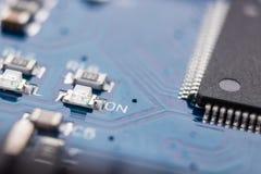 Close-up da placa de circuito eletrônico Fotografia de Stock Royalty Free