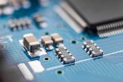 Close-up da placa de circuito eletrônico Foto de Stock
