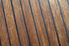 Close-up da plataforma de barco do teak fotos de stock royalty free