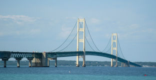 Close up da ponte de Mackinac Foto de Stock