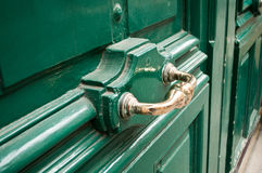 Close up da porta Imagens de Stock