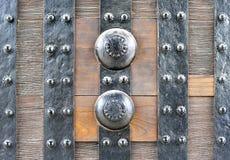 Close up da porta, castelo japonês Fotos de Stock