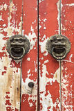 Close up velho Mottled da porta foto de stock royalty free