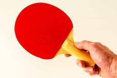 Close-up da raquete do pong do sibilo foto de stock