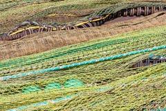 Close-up da rede e dos flutuadores de pesca Foto de Stock Royalty Free