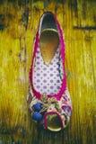 Close-up da sapata das mulheres foto de stock royalty free