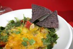 Close up da sopa do Tortilla fotos de stock