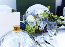 Close up da tabela do casamento Foto de Stock Royalty Free