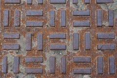 Close up da tampa de serviço público na rua Imagem de Stock Royalty Free