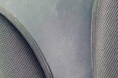 close up da tela de malha respirável da textura na trouxa preta da foto Textura do saco plástico preto do Weave Imag do fundo fotos de stock