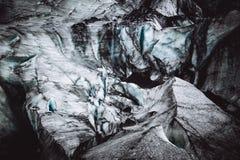 Close up da textura bonita do gelo em rochas fotografia de stock royalty free