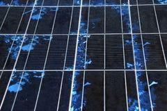 Close-up da textura do painel solar Imagem de Stock