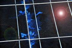 Close-up da textura do painel solar Imagem de Stock Royalty Free
