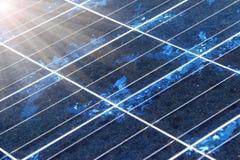 Close-up da textura do painel solar Foto de Stock