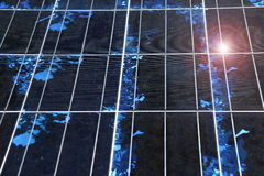 Close-up da textura do painel solar Fotos de Stock