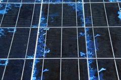 Close-up da textura do painel solar Imagens de Stock