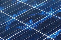 Close-up da textura do painel solar Fotos de Stock Royalty Free