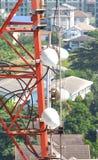 Close up da torre da telecomunicação Fotos de Stock Royalty Free
