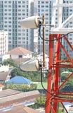 Close up da torre da telecomunicação Fotografia de Stock Royalty Free