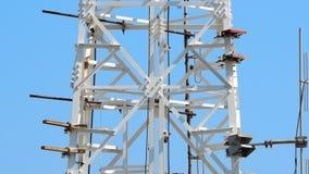 Close up da torre da telecomunicação Imagem de Stock