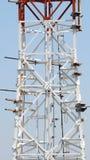 Close up da torre das telecomunicações Imagens de Stock