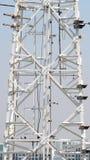 Close up da torre das telecomunicações Fotografia de Stock