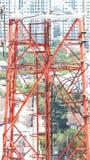 Close up da torre das telecomunicações Foto de Stock