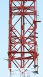 Close up da torre das telecomunicações Fotos de Stock