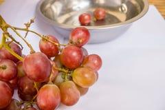 Close-up da uva vermelha fotografia de stock royalty free