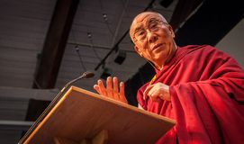 Close Up Of Dalai Lama Royalty Free Stock Images