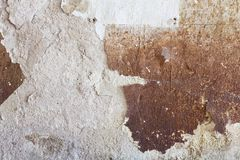 Close up of a damaged stained concrete wall Royalty Free Stock Photos