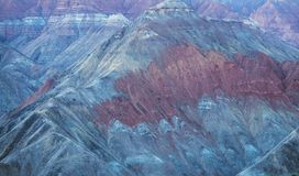 Danxia landform. The close-up of Danxia landform of Guide National Geopark in Qinghai, China stock images