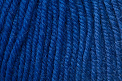 Close-up  dark blue woollen thread Royalty Free Stock Photography