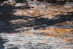 Close up of dark brown wood texture with natural striped pattern Royalty Free Stock Photography