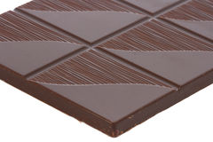 Close up of dark chocolate piece Stock Image
