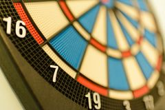Close up of a dartboard. Royalty Free Stock Photography