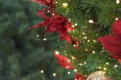 Close-up das bolas da árvore de Natal, decorações tradicionais, ano novo Fotos de Stock