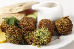 Close up das bolas do grão-de-bico do Falafel Imagem de Stock Royalty Free