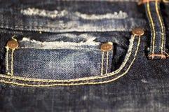 Close up das calças de brim Imagens de Stock Royalty Free