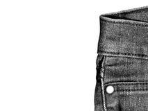 Close-up das calças de brim Fotos de Stock