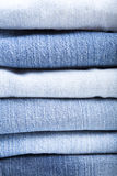 Close up das calças de brim Fotos de Stock