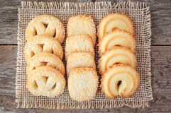 Close up das cookies de manteiga Fotos de Stock Royalty Free