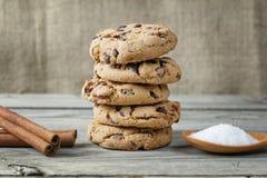 Close up das cookies do biscoito Fotografia de Stock