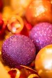 Close up das decorações do Natal Imagem de Stock Royalty Free
