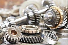 Close-up das engrenagens do motor de automóvel Fotografia de Stock