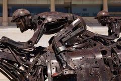 Close-up das esculturas da pista de corridas de Palermo, Buenos Aires Fotos de Stock
