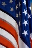 Close up das estrelas e da bandeira das listras imagens de stock royalty free